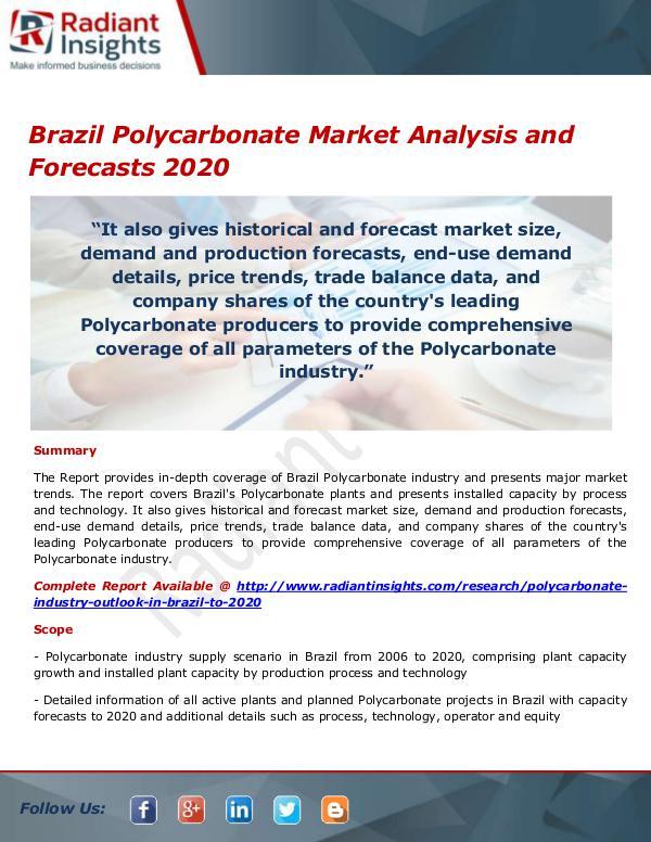 Brazil Polycarbonate Market
