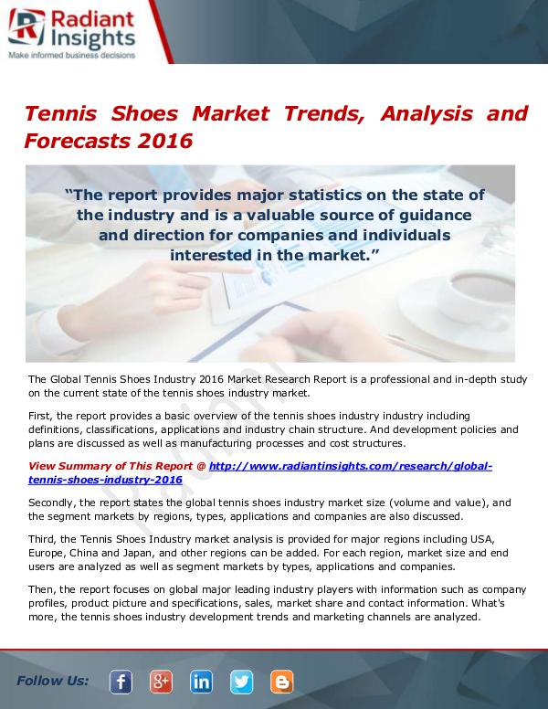 Tennis Shoes Market Size, Share, Growth, Trends, A
