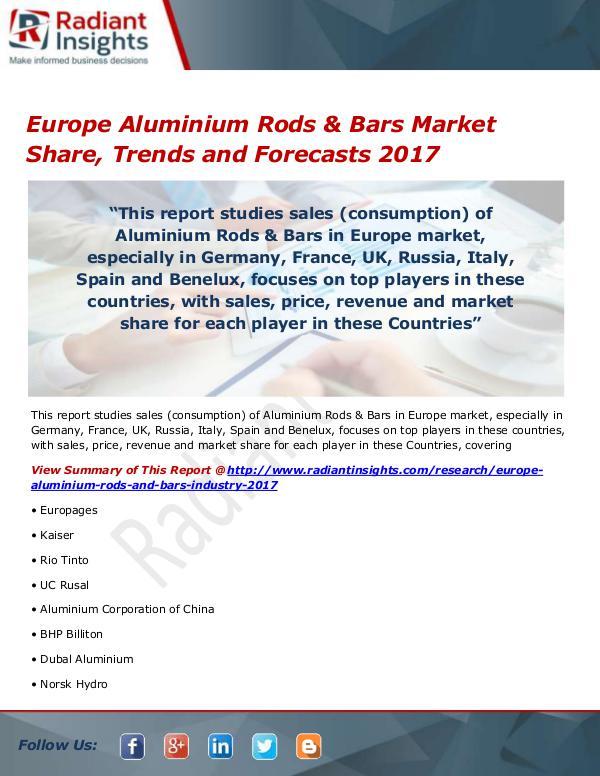 Europe Aluminium Rods & Bars Market Size, Share, G