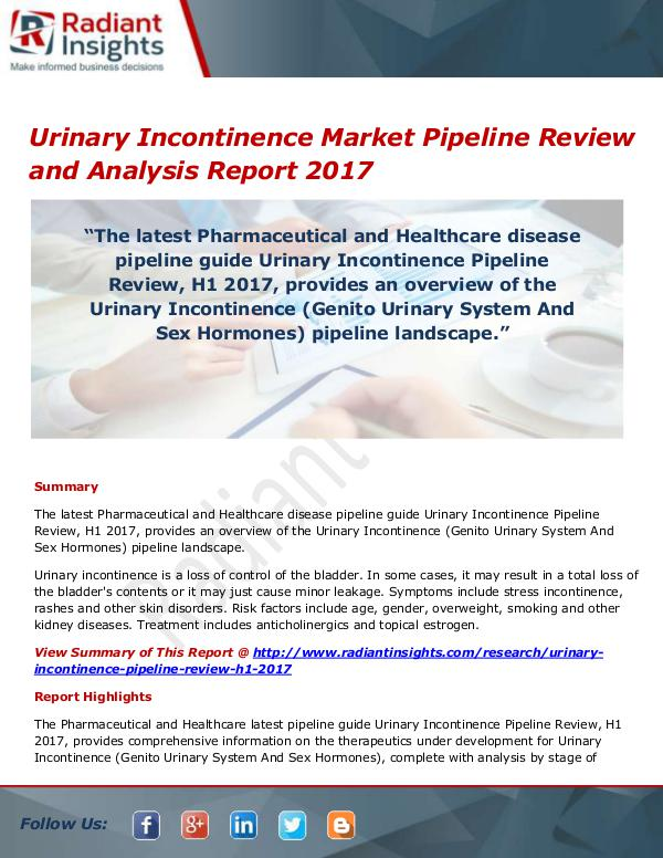 Urinary Incontinence Market Size, Share, Growth, T