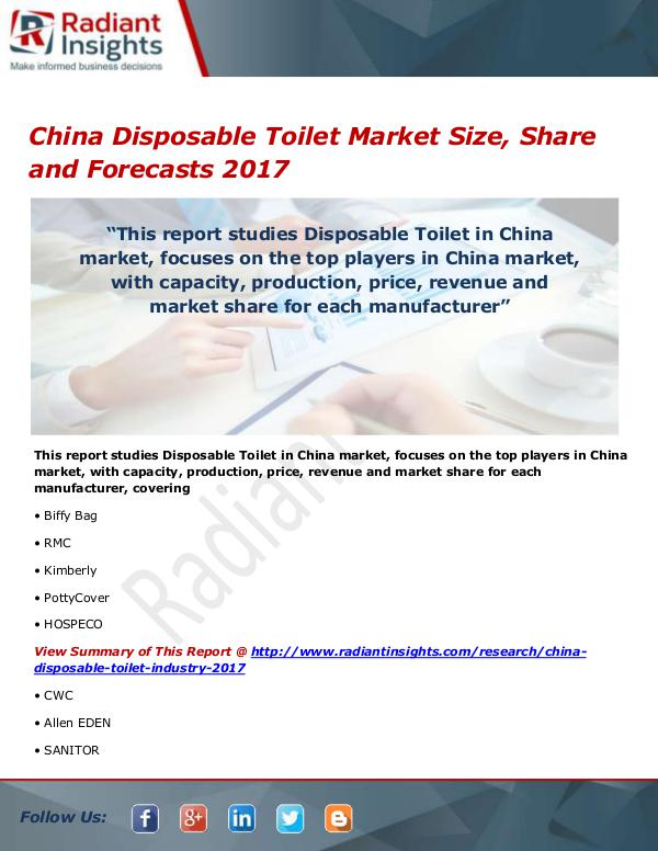 China Disposable Toilet Market Size, Share, Growth