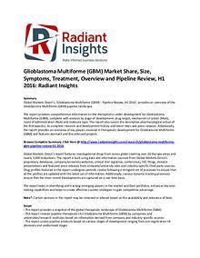 Glioblastoma Multiforme (GBM) Market Treatment, Pipeline Review 2016