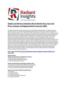 Chelation Resin Market Size, Share and Opportunities Forecasts 2016