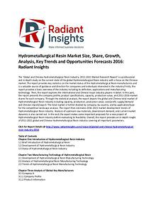 Hydrometallurgical Resin Market Growth and Forecasts 2016