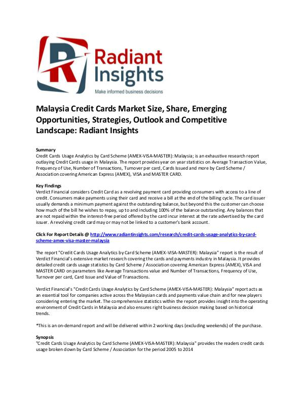 Malaysia Credit Cards Market Size, Share, Emerging Opportunities Malaysia Credit Cards Market