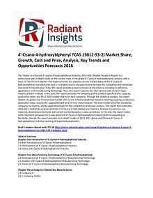 4'-Cyano-4-hydroxybiphenyl ?CAS 19812-93-2) Market Size 2016