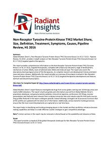 Non-Receptor Tyrosine-Protein Kinase TYK2 Market Share, Size H1 2016