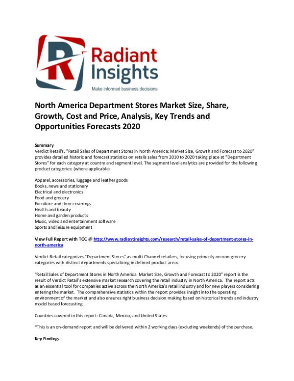 North America Department Stores Market
