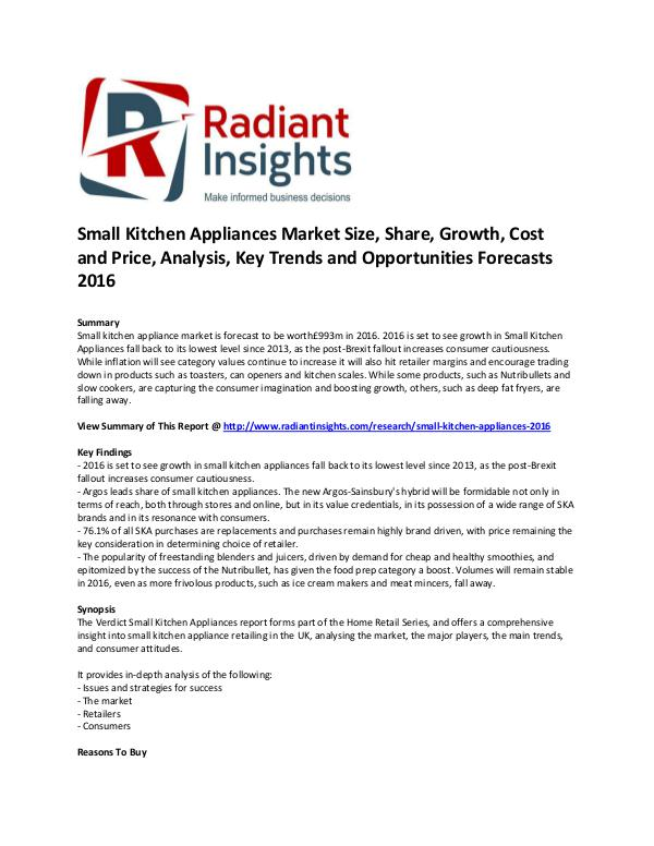 Small Kitchen Appliances Market