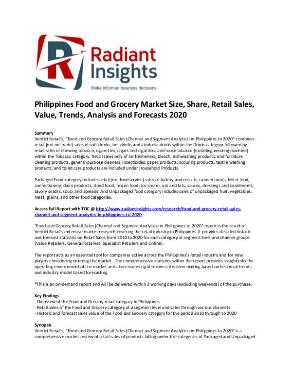 Philippines Food and Grocery Market