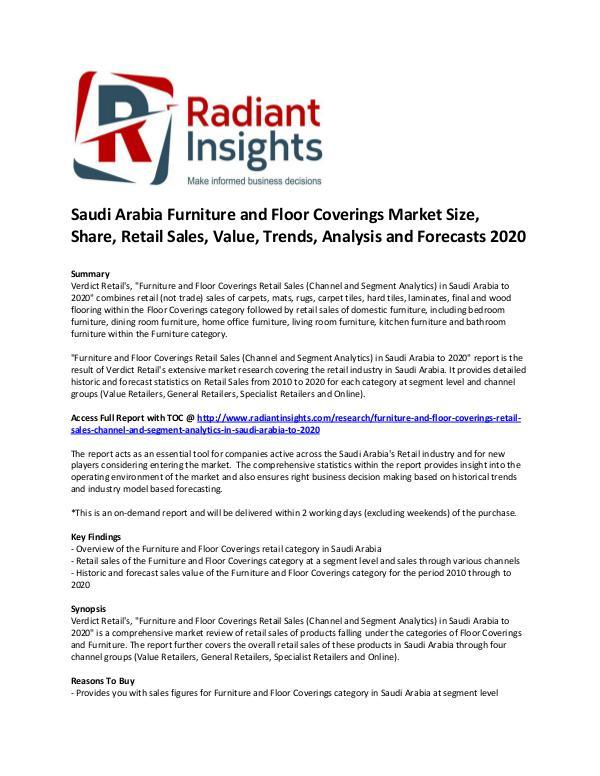 Saudi Arabia Furniture and Floor Coverings Market