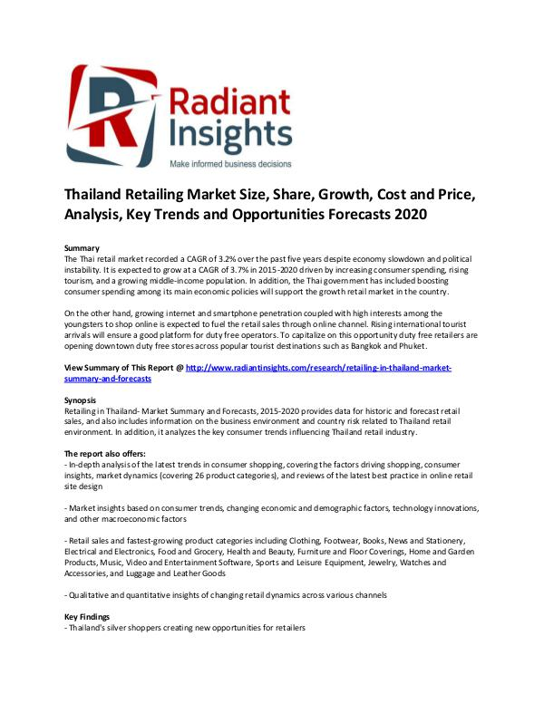 Thailand Retailing Market