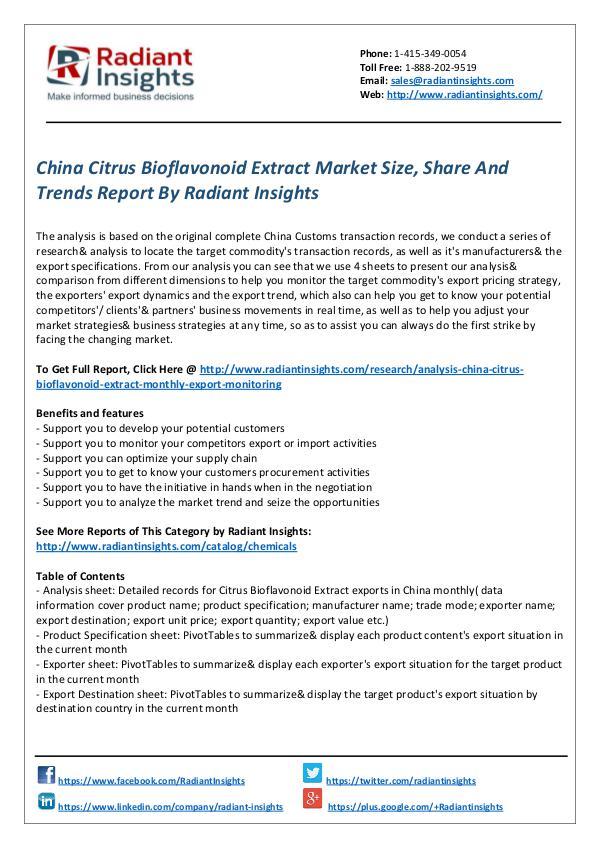 China Citrus Bioflavonoid Extract Market