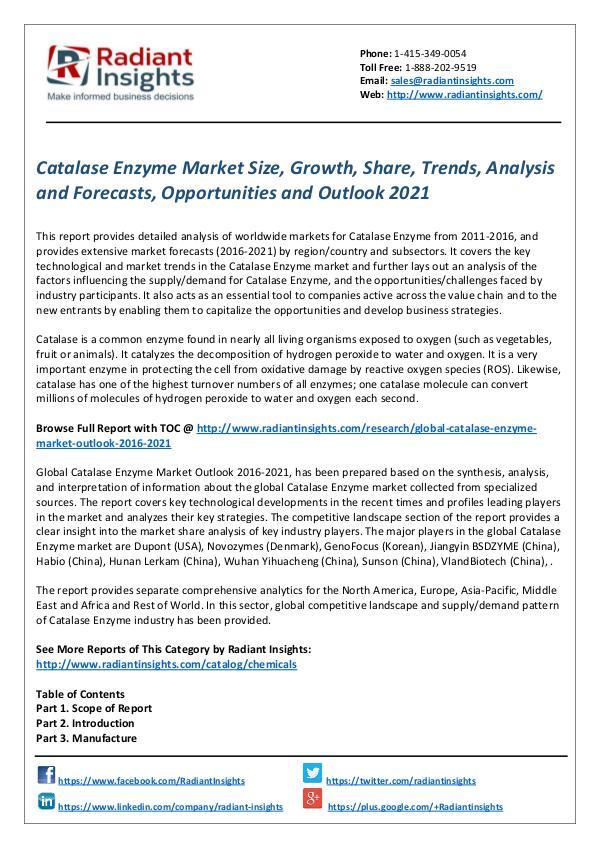 Catalase Enzyme Market