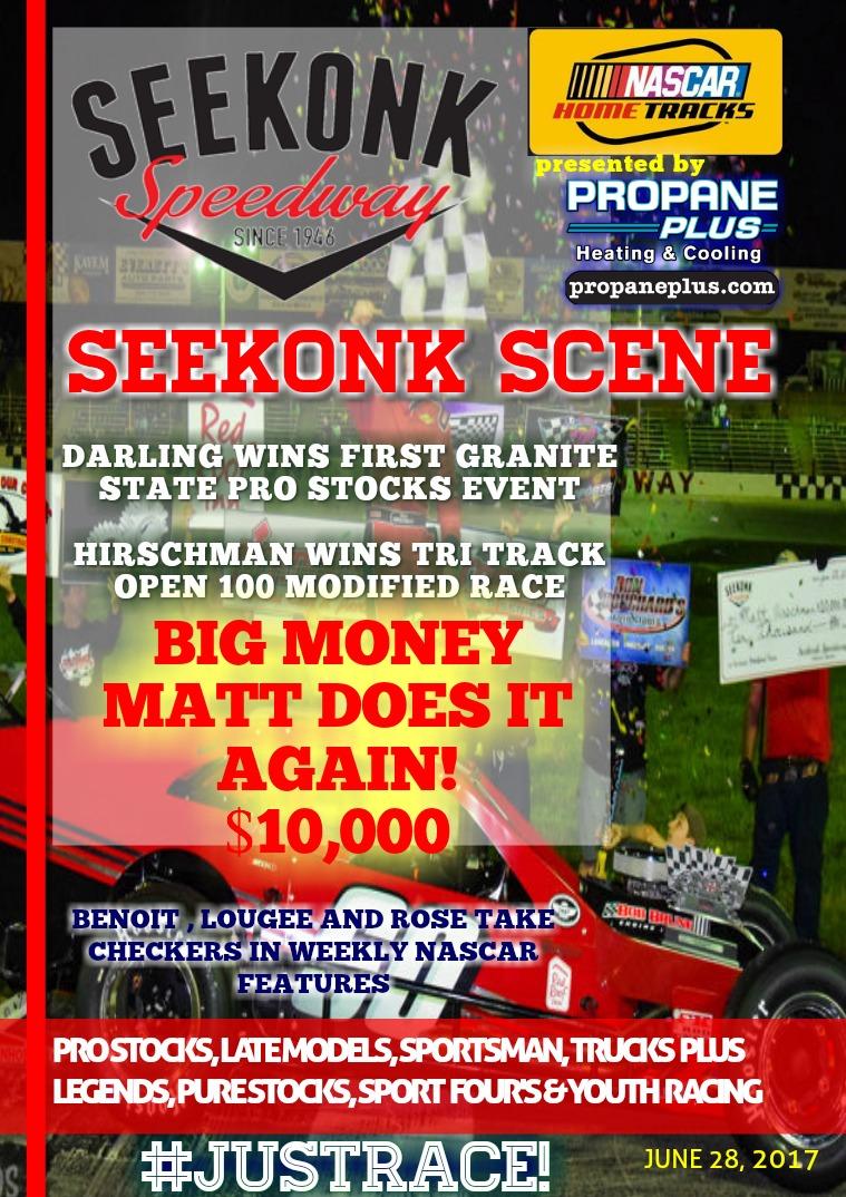 Seekonk Speedway Race Magazine June 23rd-28th Recap