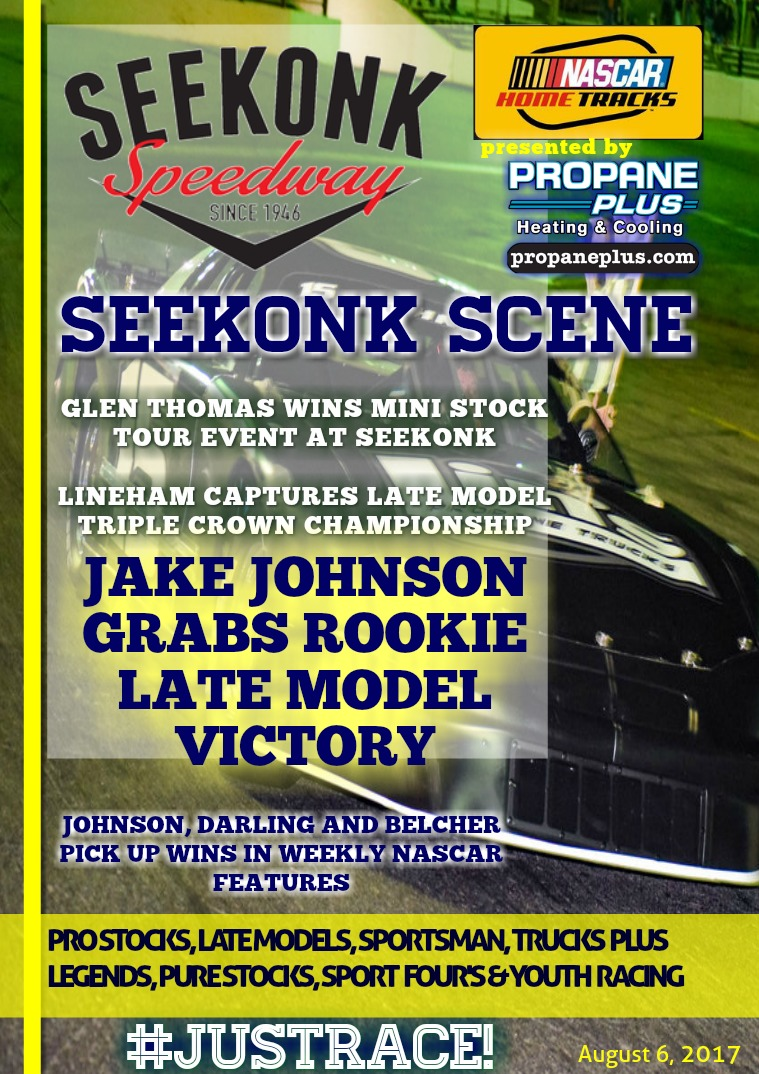 Seekonk Speedway Race Magazine August 4th, 5th & 6th