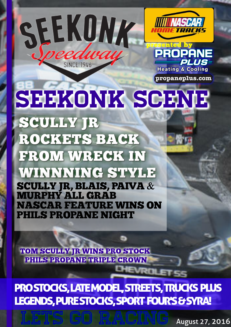 Seekonk Speedway Race Magazine August 26-27 Weekend Recap