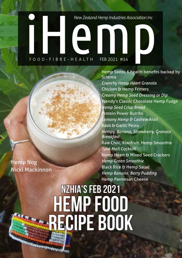 iHemp issue #14 (Recipe Book) Recipe Hemp Food eBook - Feb 2021