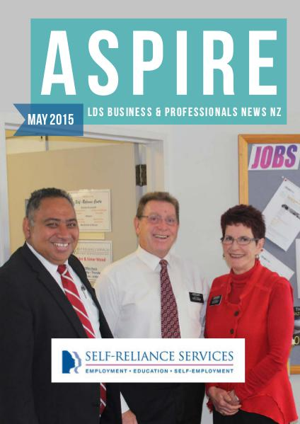 Aspire - LDS Business & Professionals' News NZ Issue #9, May 2015