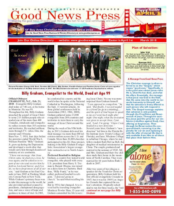 Good News Press  March 2018 Good News Press March 2018
