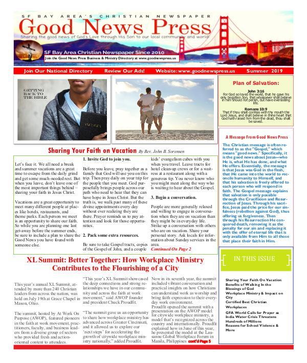 Good News Press Summer 2019 Good News Press  Summer 2019