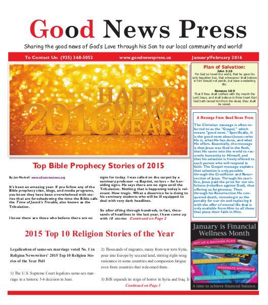 Good News Press January/February 2016 Good News Press January/February 2016