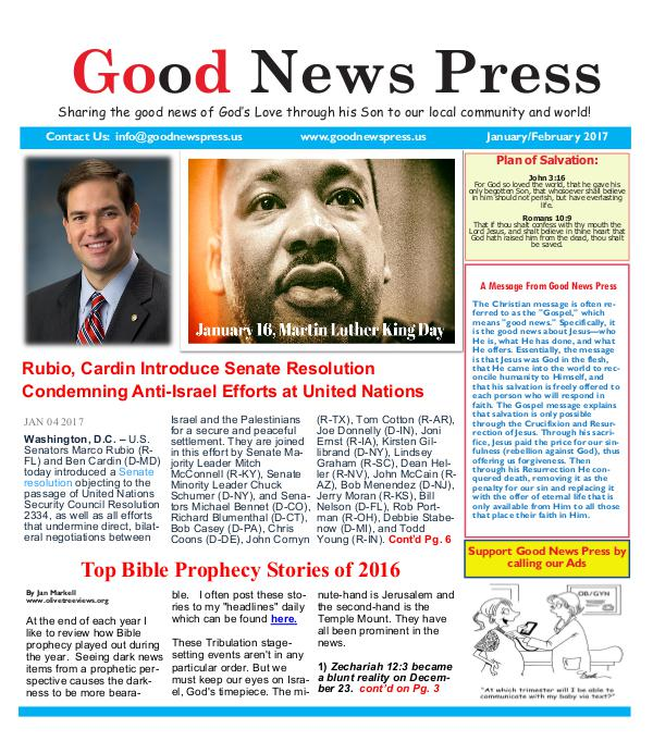 Good News Press January/February 2017 Good News Press January/February 2017