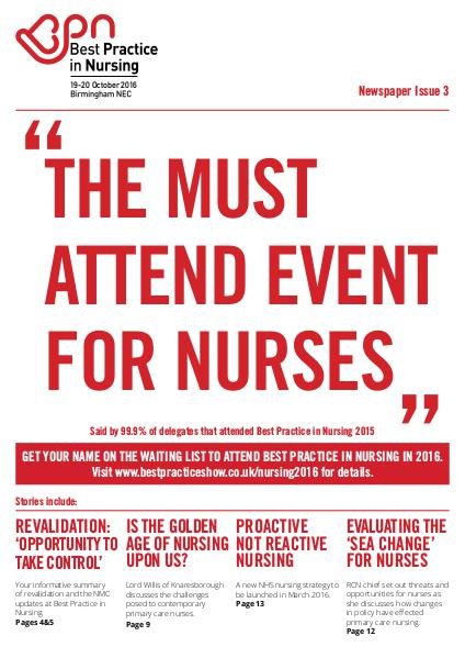 Best Practice in Nursing 2015 Post Show Newspaper-Issue 3 Nov 2015