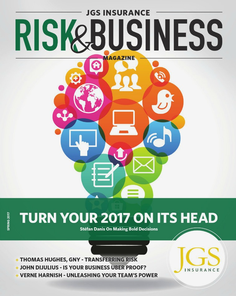 Risk & Business Magazine JGS Insurance Spring 2017