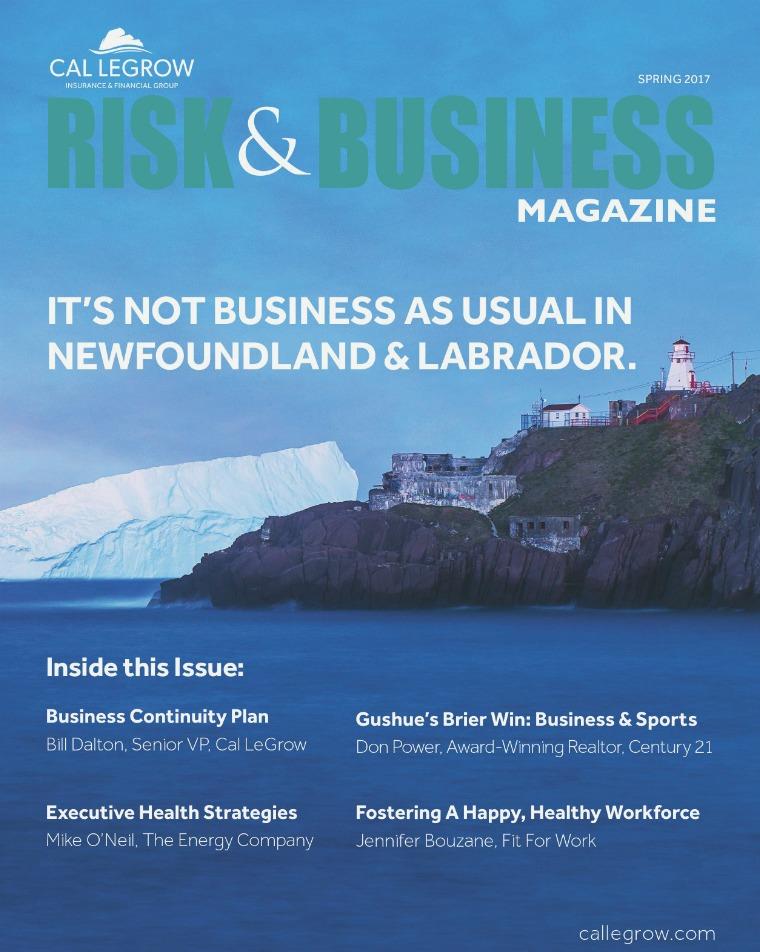 Risk & Business Magazine Cal Legrow Spring 2017