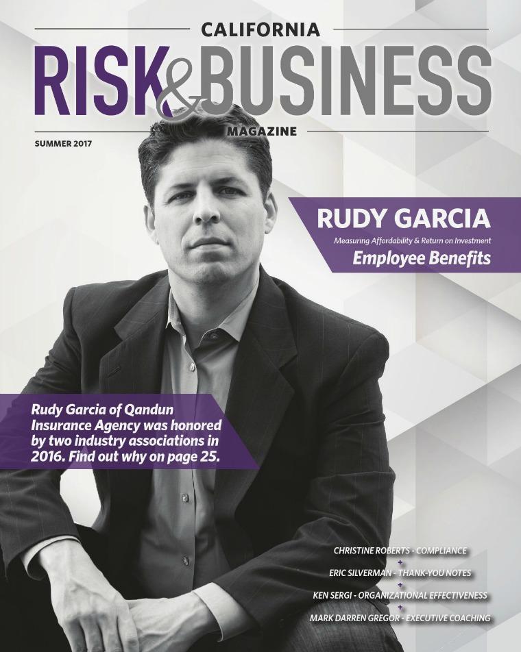 California Risk & Business Magazine Summer 2017