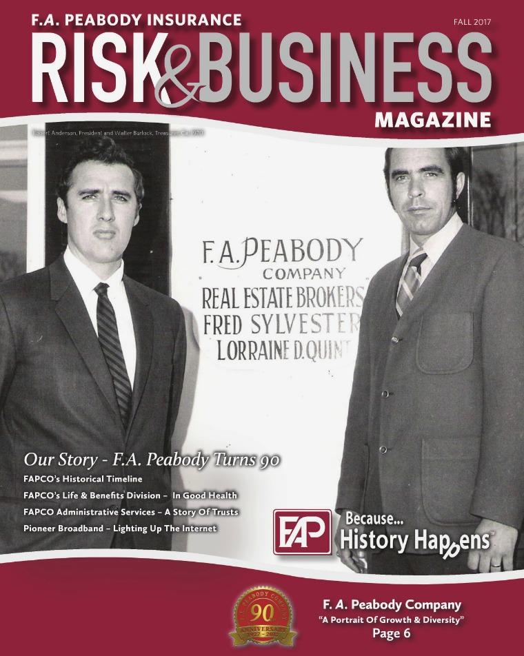F.A. Peabody Insurance Magazine Fall 2017