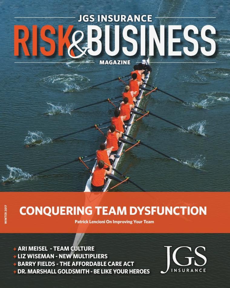 JGS Insurance Risk & Business Magazine Winter 2017