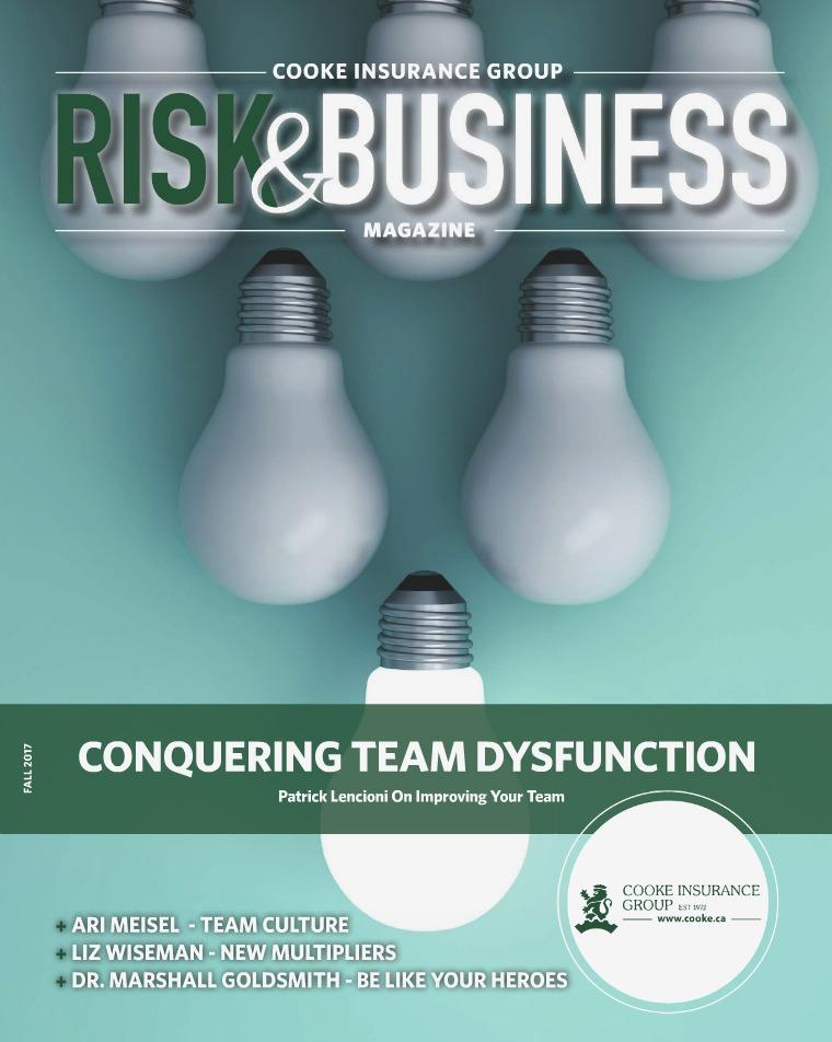 Cooke Insurance Risk & Business Magazine Fall 2017
