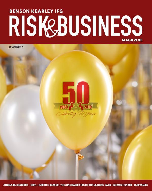 Risk & Business Magazine Benson Kearley IFG Magazine Summer 2019