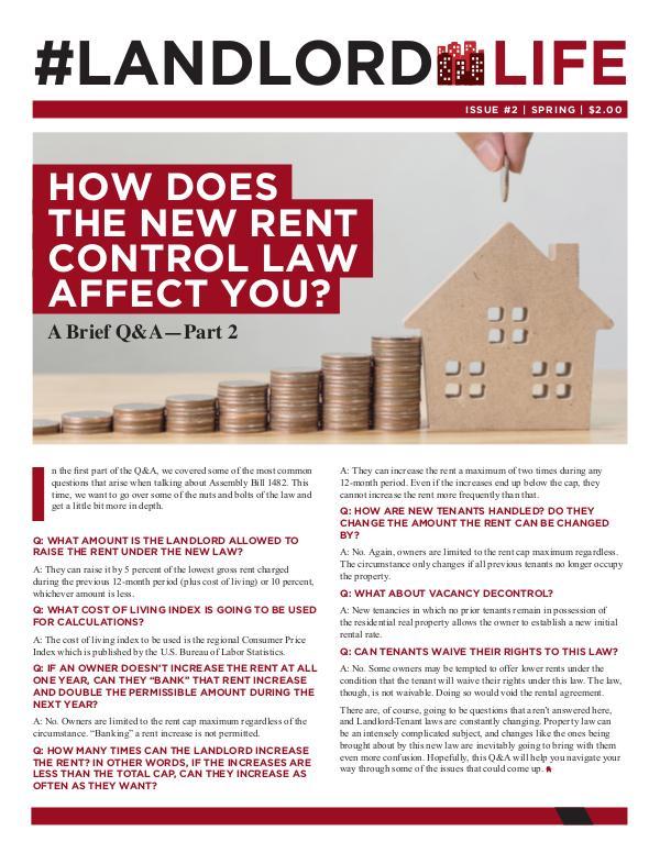 #LandlordLife Newsletter Issue 2