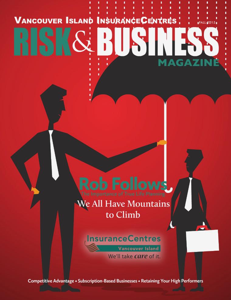Waypoint Insurance - Risk & Business Magazine VIIC Fall 2015