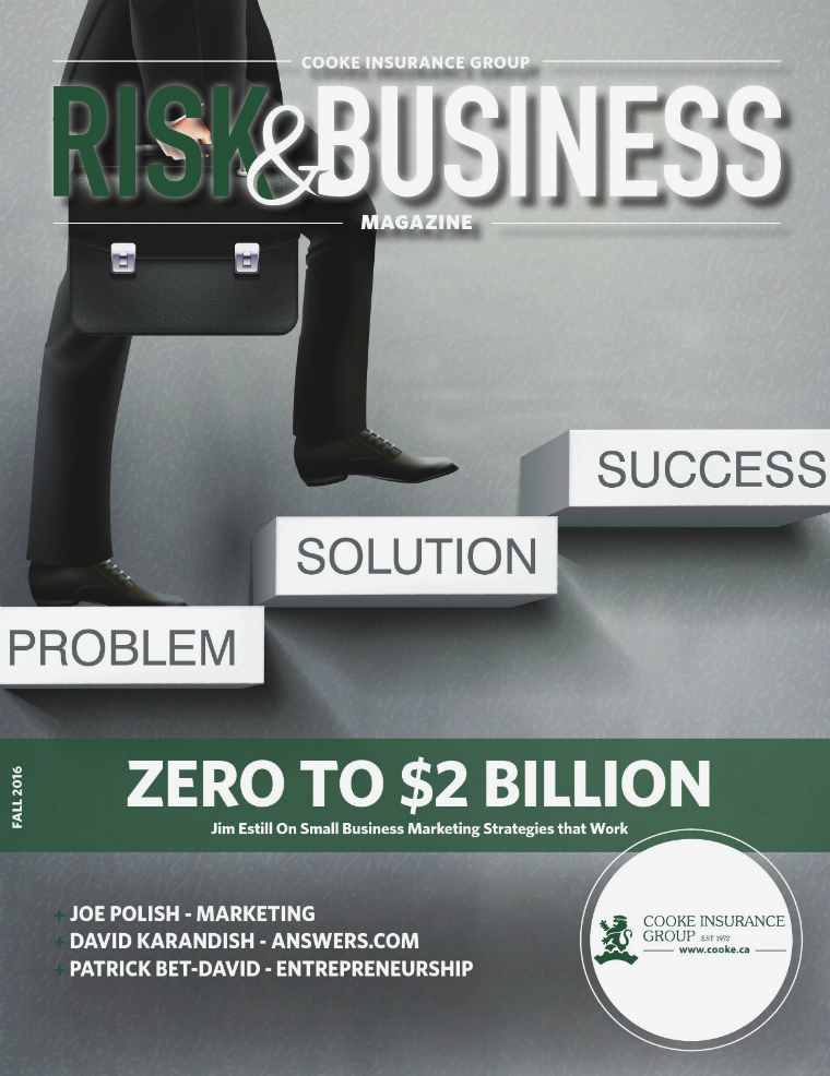 Risk & Business Magazine Cooke Insurance Group Fall 2016