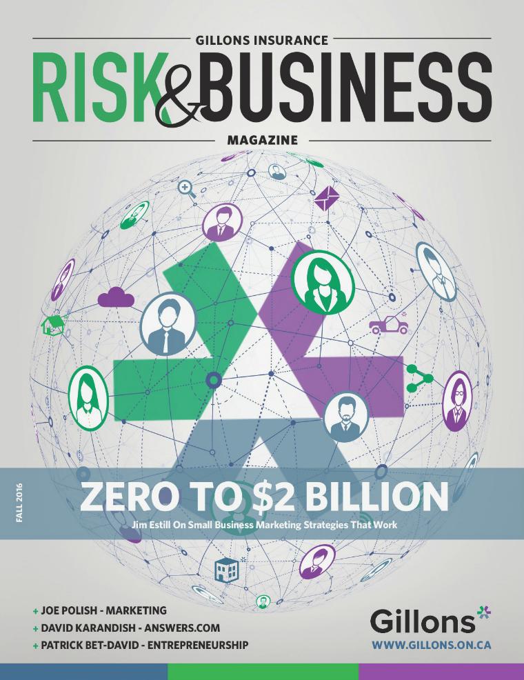 Risk & Business Magazine Gillons Insurance  Fall 2016