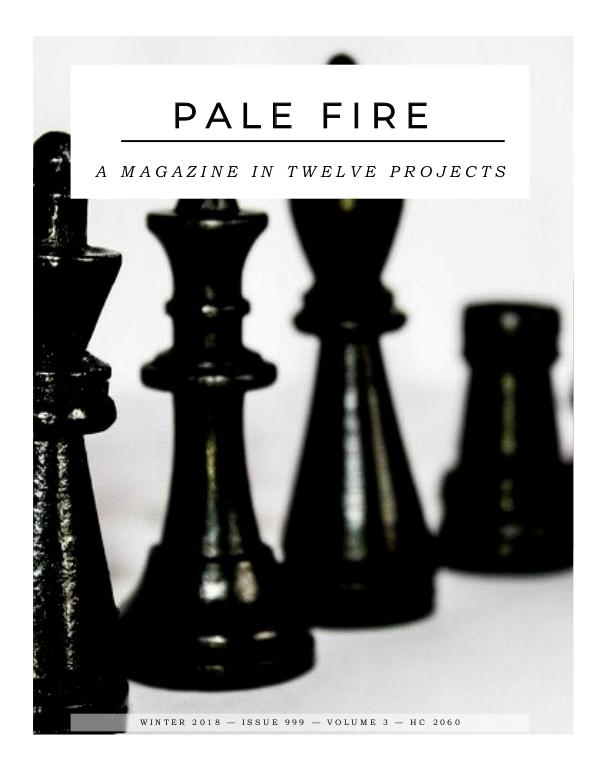 Pale Fire: A Magazine in 12 Projects Group Three