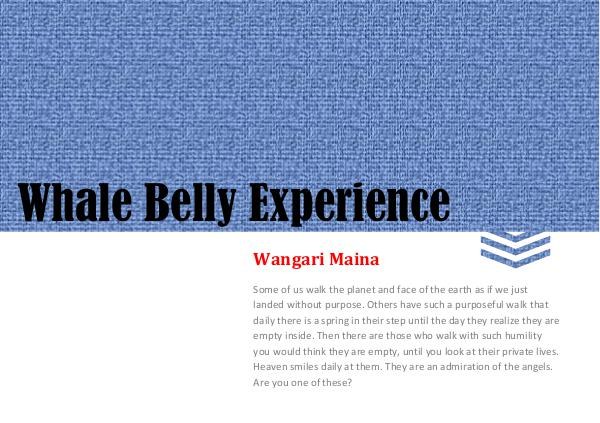 E-books Whale Belly Experience