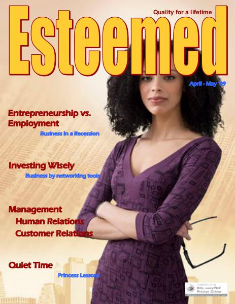 Esteemed Magazines April-May 2009