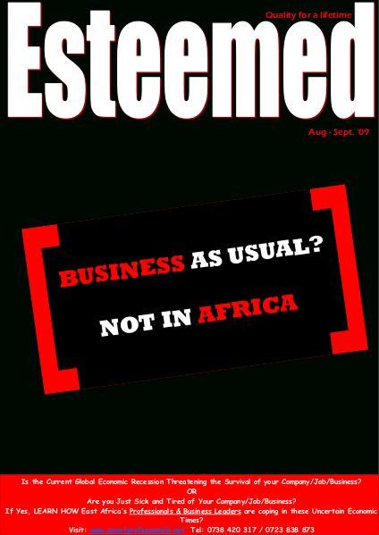 Esteemed Magazines August-September 2009