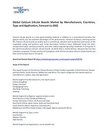 Calcium Silicate Boards Market By Trends, Growth, Demand and Forecast