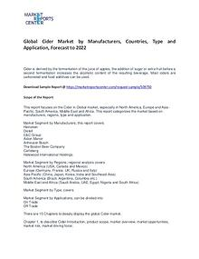 Cider Market by Manufacturers, Countries, Type and Application