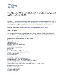 Scandium Metal Market Research Report Analysis To 2022