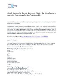 Automotive Torque Converter Market Research Report Forecasts To 2022