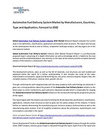 Automotive Fuel Delivery System Market 2017