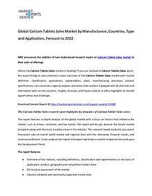 Calcium Tablets Market 2017