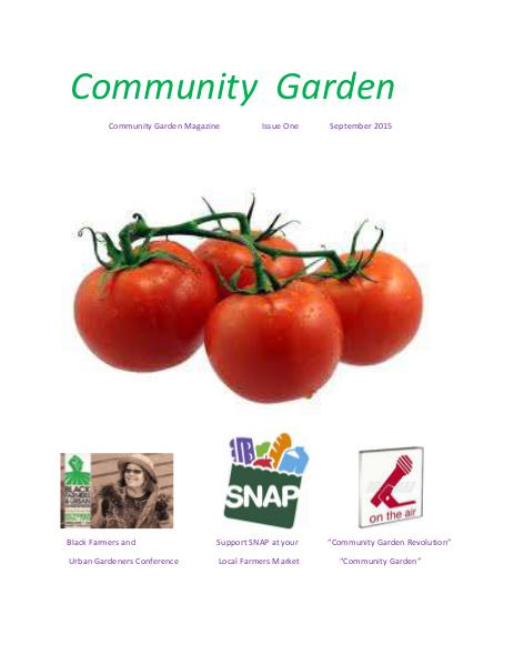 Community Garden Magazine Issue One, September 2015